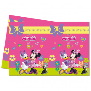 1 Plastic Tablecover 120x180cm  -  Minnie Happy Helpers