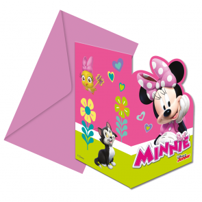 6 Die-cut invitations & envelopes  -  Minnie Happy Helpers