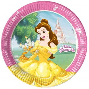 8 Paper Plates Large 23cm (3 mixed designs)  -  Princess Heartstrong