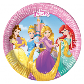 8 Paper Plates Medium  20cm  -  Princess Heartstrong