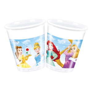 8 Plastic Cups 200 ml  -  Princess Heartstrong