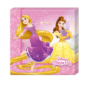 20 Two-ply Paper Napkins 33x33cm  -  Princess Heartstrong