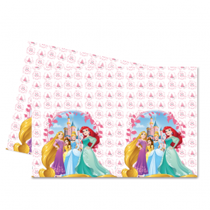 1 Plastic Tablecover 120x180cm  -  Princess Heartstrong
