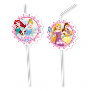 6 Medallion Flexi Drinking Straws  -  Princess Heartstrong