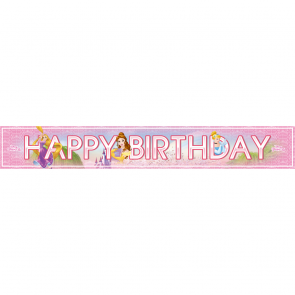 "3 ""Happy Birthday"" Foil Banner  -  Princess Heartstrong"