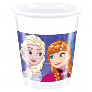 8 Plastic cups 200ml  -  Frozen Snowflakes