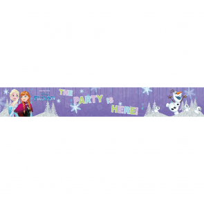 "3 ""The Party is Here"" Foil Banner  -  Frozen Snowflakes"