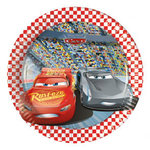 8 Paper Plates Medium 20cm  -  Cars 3