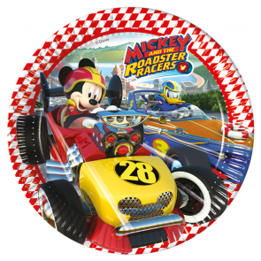 8 Paper Plates Large 23cm  -  Mickey Roadster