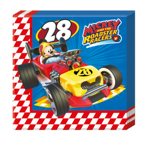20 Two-Ply Paper Napkins 33x33cm  -  Mickey Roadster