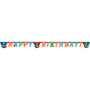 "1 ""Happy Birthday"" Die-cut Banner  -  Mickey Roadster"