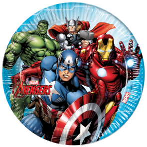 8 Paper Plates Large  23cm  -  Mighty Avengers
