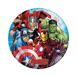 8 Paper Plates Medium  20cm  -  Mighty Avengers
