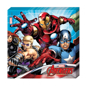 20 Two-ply Paper Napkins 33x33cm  -  Mighty Avengers