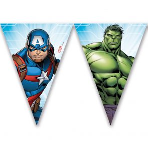 1 Triangle Flag Banner (9 flags)  -  Mighty Avengers