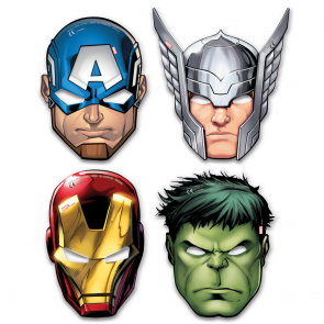 6 Die-cut masks (4 mixed designs)  -  Mighty Avengers