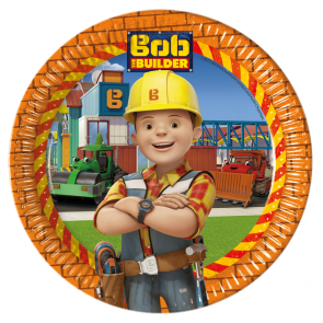 8 Paper Plates Large  23cm  -  Bob The Builder