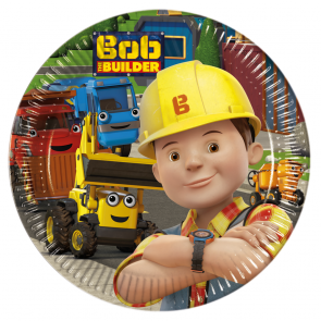 8 Paper Plates Medium  20cm  -  Bob The Builder