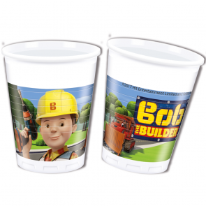 8 Plastic Cups 200 ml  -  Bob The Builder