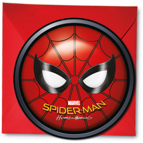 6 Die-Cut Invitations & Envelopes  -   Spiderman homecoming