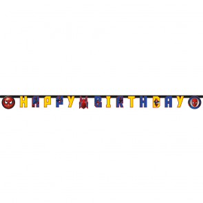 "1 ""Happy Birthday"" Die-Cut Banner  -   Spiderman homecoming"