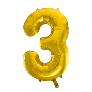 "Foilballoon No. 3, 34"" - gold"