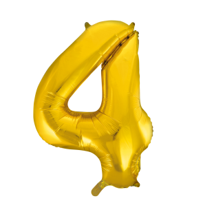 "Foilballoon No. 4, 34"" - gold"