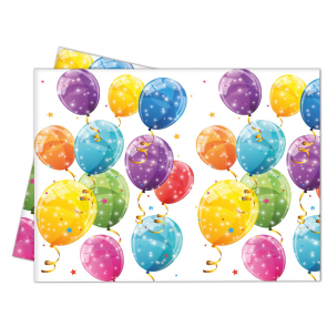 1 Plastic Tablecover 120x180cm - Sparkling Balloons