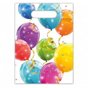 6 Party Bags - Sparkling Balloons