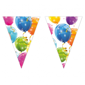1 Triangle Flag banner - Sparkling Balloons
