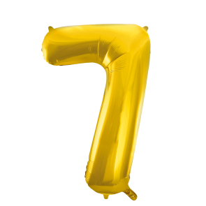 "Foilballoon No. 7, 34"" - gold"