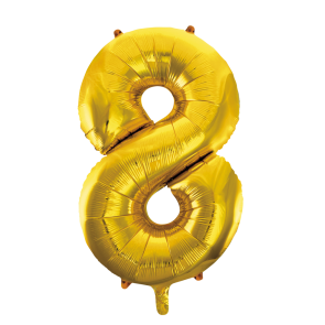 "Foilballoon No. 8, 34"" - gold"