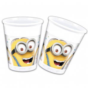 8 Plastic cups 200ml  -  Minions 3 - Balloons