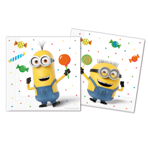 20 Two-ply paper napkins 33x33cm  -  Minions 3 - Balloons