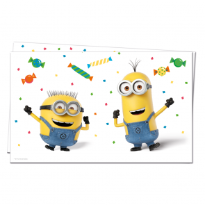 1 Plastic Tablecover 120x180cm  -  Minions 3 - Balloons