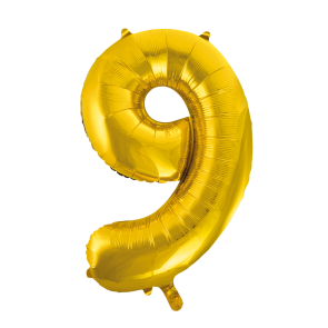 "Foilballoon No. 9, 34"" - gold"