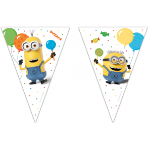 1 Triangle Flag Banner?(9 flags)  -  Minions 3 - Balloons