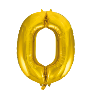 "Foilballoon No. 0, 34"" - gold"
