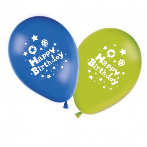 8 11 inches Printed Balloons  -  Happy Birthday Boy