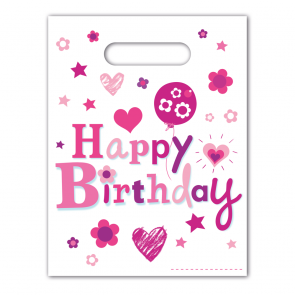 6 Party Bags  -  Happy Birthday Girl