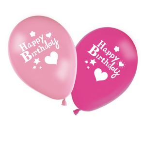 8 11 inches Printed Balloons  -  Happy Birthday Girl