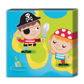 20 Two-ply Paper Napkins 33x33cm  -  Pirates Treasure Hunt