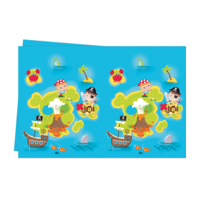 1 Plastic Tablecover 120x180cm  -  Pirates Treasure Hunt