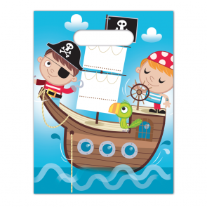 6 Party Bags  -  Pirates Treasure Hunt