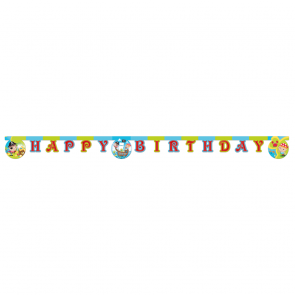 "1 ""Happy Birthday"" Die-cut  Banner  -  Pirates Treasure Hunt"