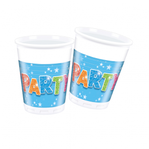 8 Plastic Cups 200 ml - Fabulous Party