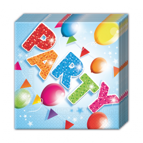 20 Two-ply Paper Napkins 33x33cm - Fabulous Party