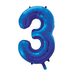 "Foilballoon No. 3, 34"" - blue"