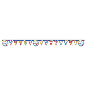 "1 ""Happy Birthday"" Die-cut Banner - Fabulous Party"