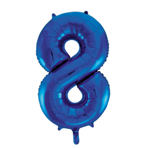 "Foilballoon No. 8, 34"" - blue"